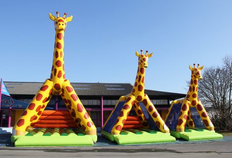 PETITE GIRAFE SANS OBSTACLE 5x4m GONFLABLE