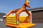 Trampoline gonflable le cheval