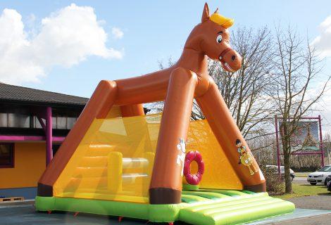 CHEVAL AVEC OBSTACLES 6x5m GONFLABLE