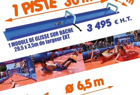 SURF'IN THE STREET GLISSE AQUATIQUE GONFLABLE